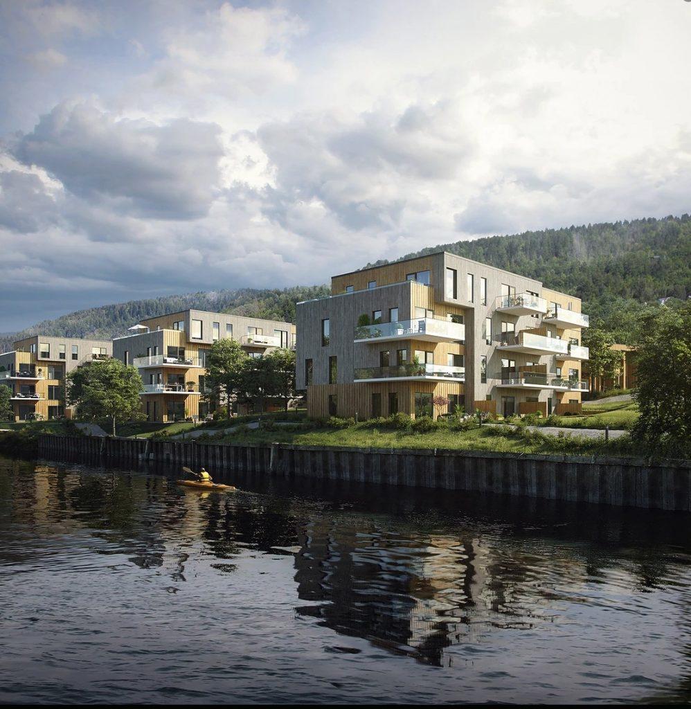 Besseggen arkitekter boligprosjekt Drammen